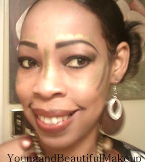 young and beautiful makeup black warrior woman
