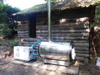 Chauffe piscine au feu de bois for Chauffage piscine au bois fait maison