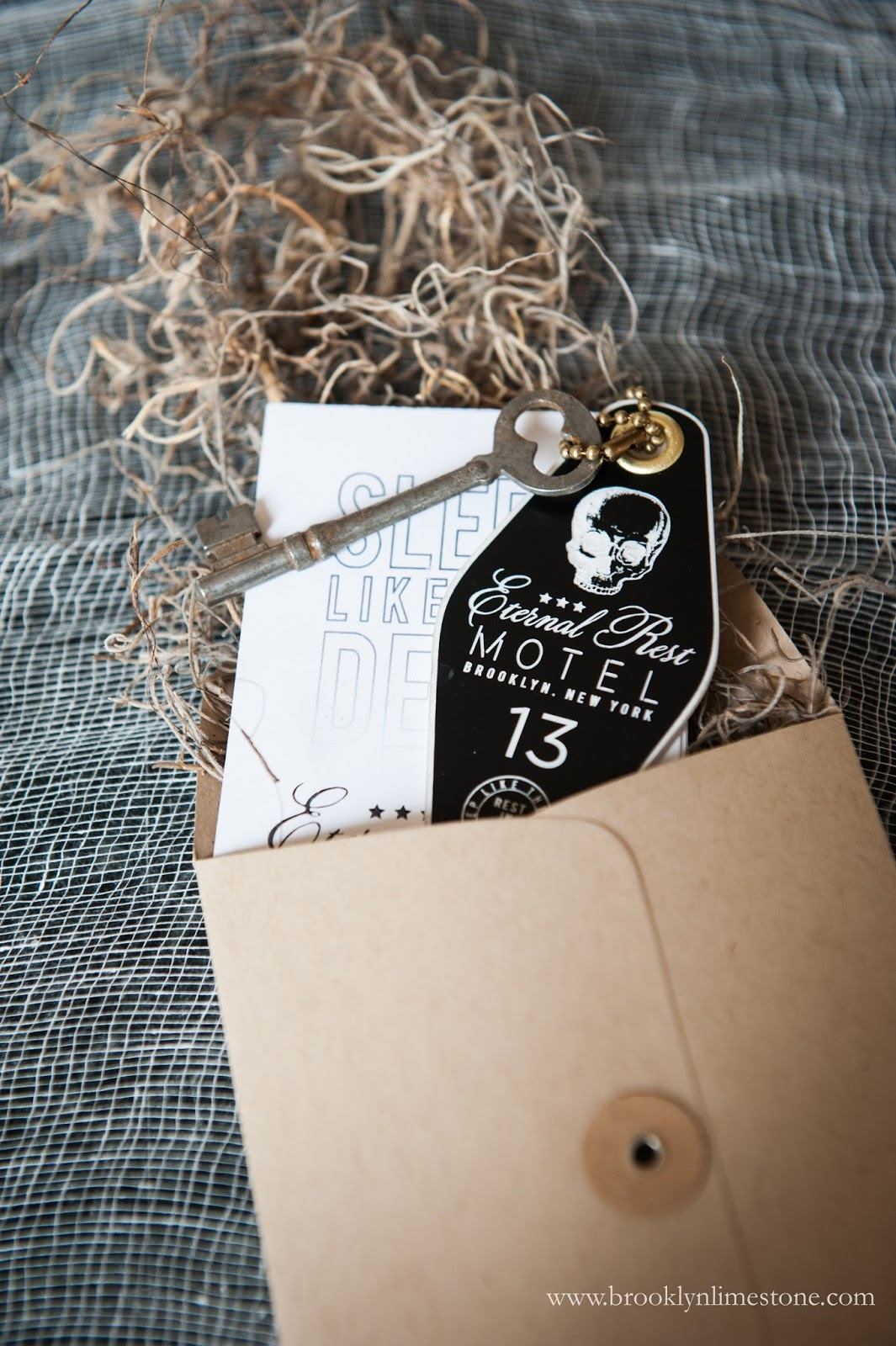 Eternal rest hotel key fobs halloween invitations brooklyn limestone think candy crazed kids running around my living room and youll have a good idea but i couldnt resist sending a proper invitation just the same stopboris Choice Image