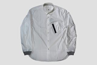 BLACK&BLUE [ MA-1ポケットシャツ ] WHITE
