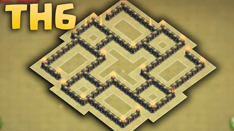 Th6, War Base Layout with 2 Air defense iamge