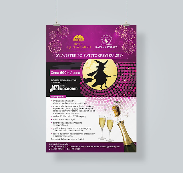 Projekt plakatu Sylwester