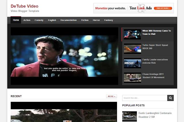 Detube Video Blogger Template