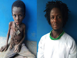 Francis Taiwo and chained son Korede Taiwo