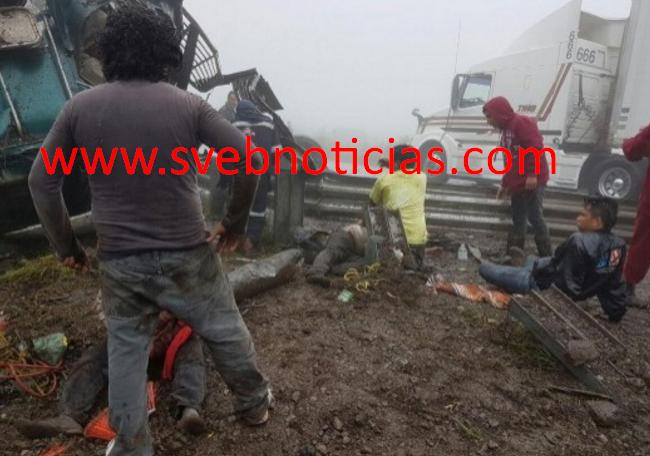 Otro accidente en autopista Puebla-Orizaba deja un muerto y seis heridos