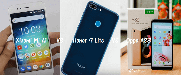 Mi A1 Vs Honor 9 Lite Vs Oppo A83 Price In India Features