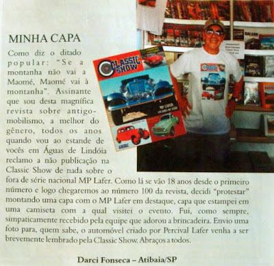 É assim que um MP Lafer aparece na revista de Ijuí: na seção dos leitores - nunca na capa.