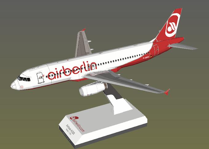 A320-200 Air Berlin papermodel