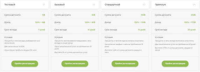 Инвестиционные предложения в хайп проекте Exparvest com