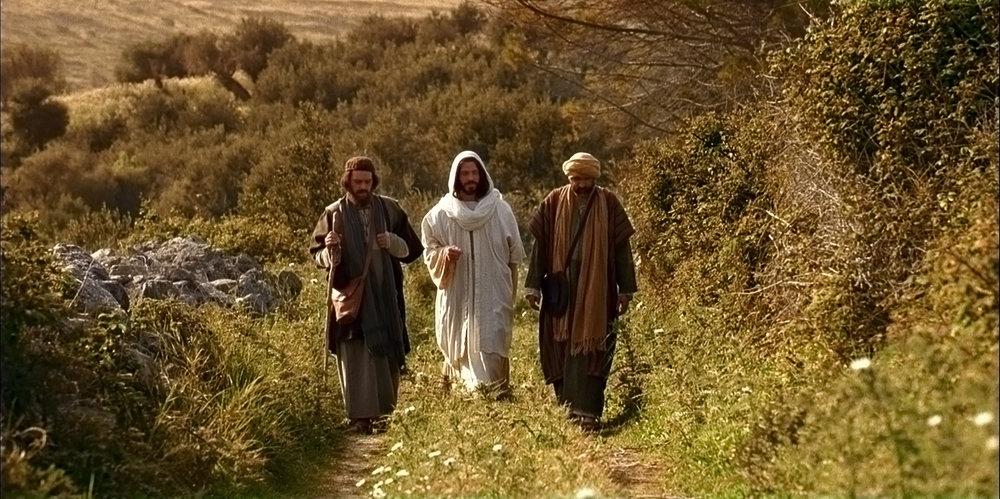 Jesus aparece a dois discípulos no caminho de Emaús