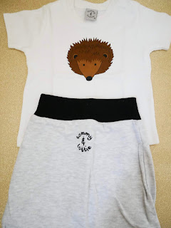 Tommy and Lottie hedgehog gift set romper and pants