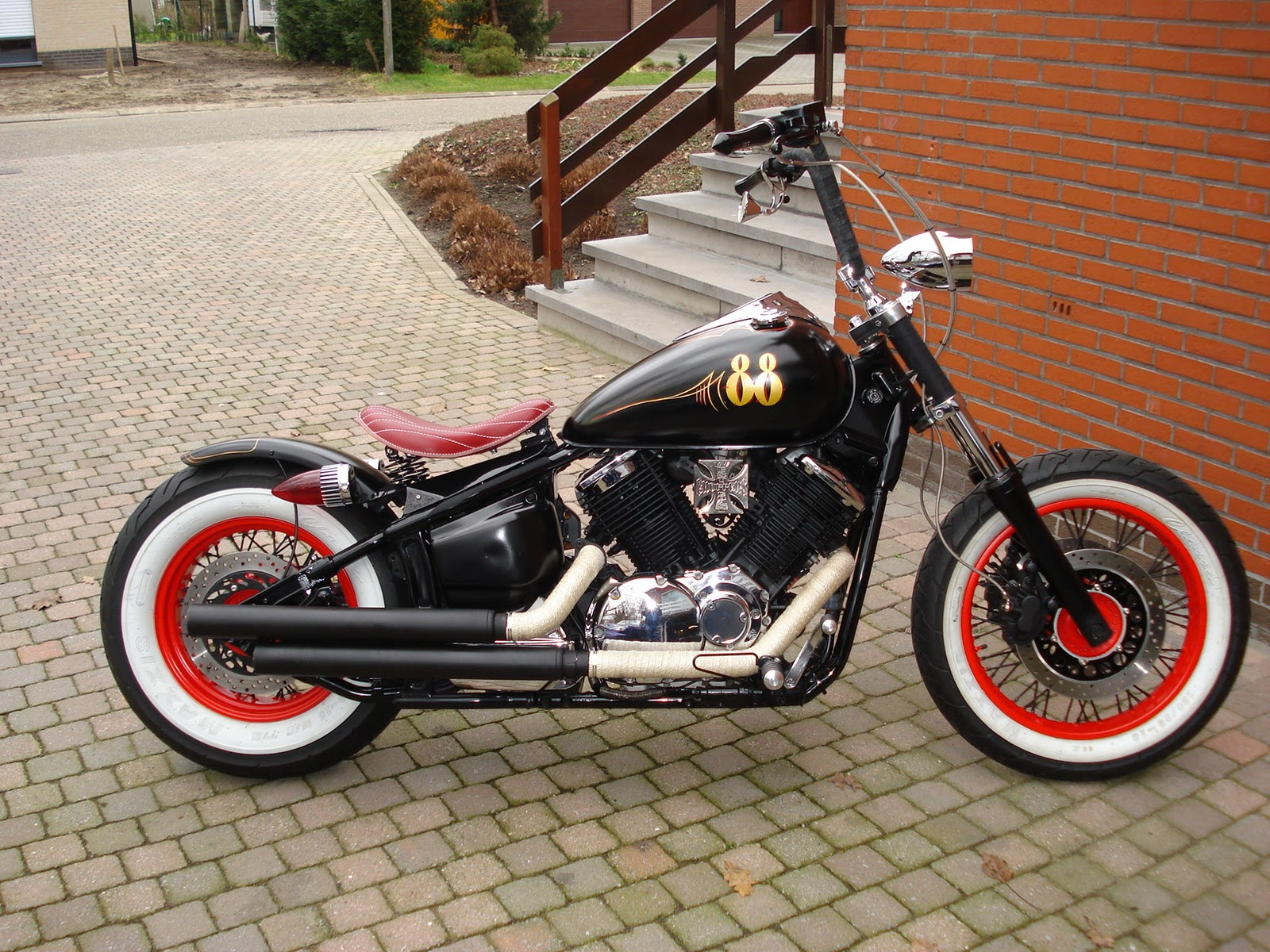 Yamaha Dragstar Oldscool Bobber Build By Geert Baudet