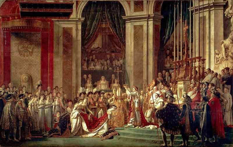 A Coroação de Napoleão - David, Jacques-Louis e suas principais pinturas ~ Representante do neoclassicismo
