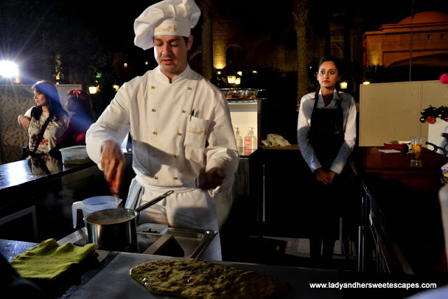 cooking show at Souk Festive Market