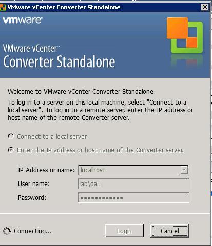 Shrink a VMDK using VMware Converter
