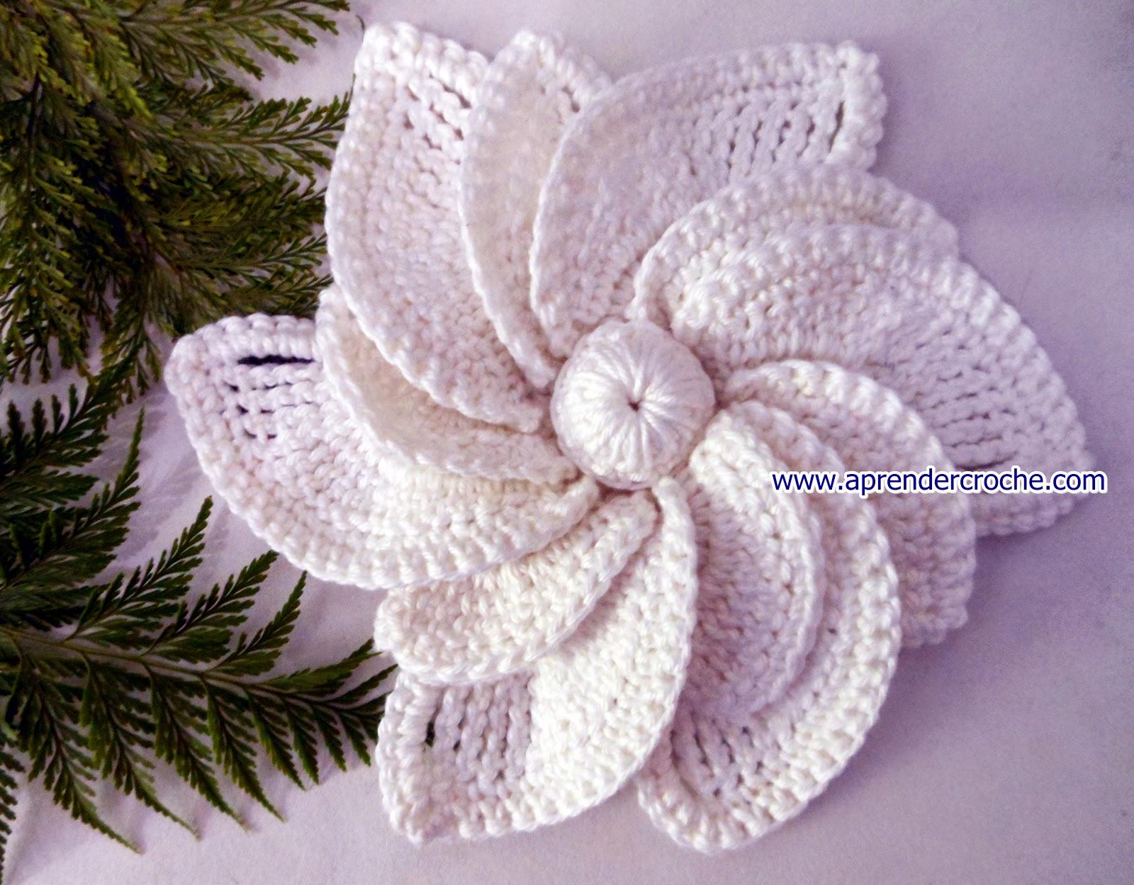 edinir croche ensina Flores em Croche Shalom com edinir croche no curso de croche no blog aprender croche