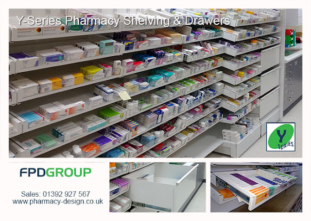 Y-Series Pharmacy Shelving