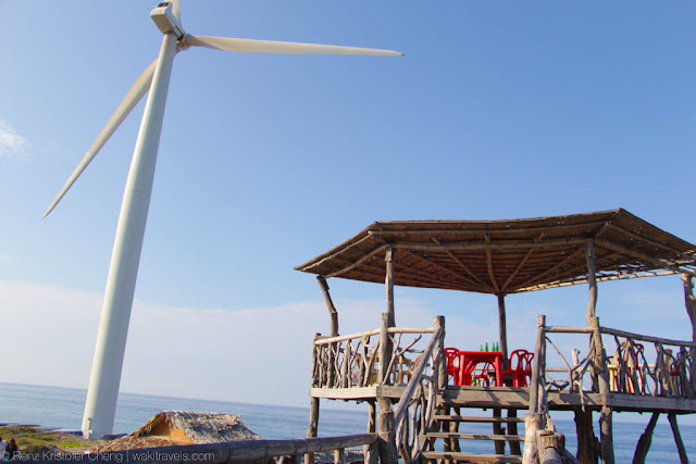 Bangui Wind Mill next to a hut, Ilocos