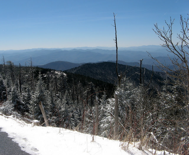 road up Clingman's Dome