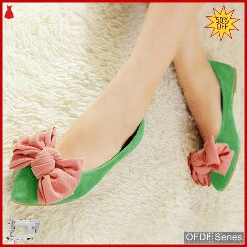 OFDF226 Sepatu Flat Munafie Pita Hijau Flatshoes BMGShop