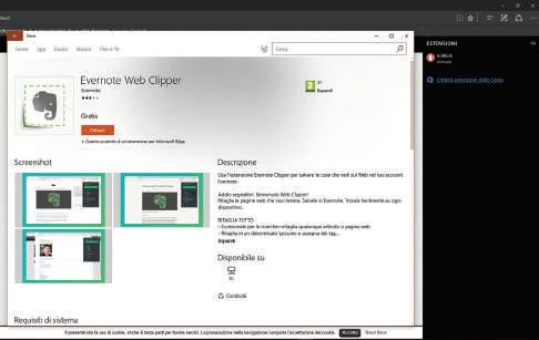 Novità browser Edge Windows 10 plugin