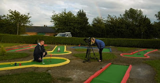Photo from the Filming the Crazy Golf news feature filming at Tea Green Golf in Luton