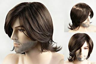Erkek uzun saç peruk