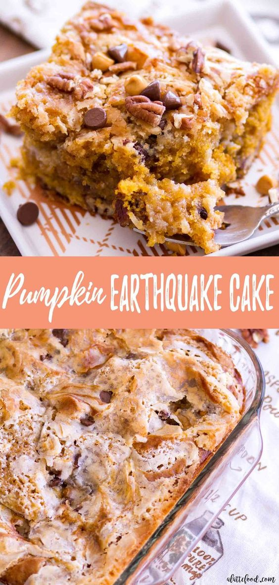 Keto Pumpkin Earthquake Cake