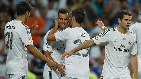 Khi mới lên đội một, Nacho (ngoài cùng bên phải) không được đánh giá cao như hai người đồng đội Alvaro Morata và Jese Rodriguez.