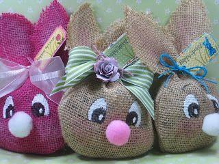 sacchetti di juta a forma di coniglio