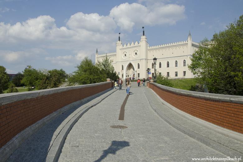 Lublin, zamek, architekt na szpilkach