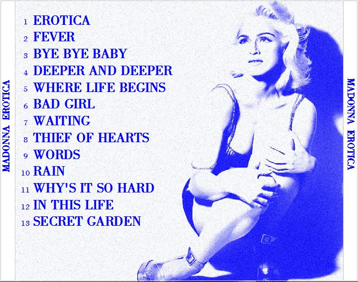 Back madonna erotica absolutely not