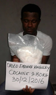 34 Year Old Enugu Man Caught With Cocain in His Shoe Soles by NDLEA