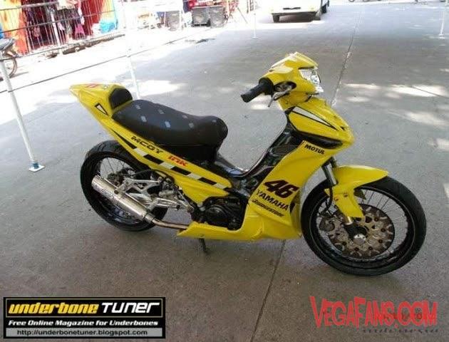 Vega ZR Modif MotoGP 46 Kuning