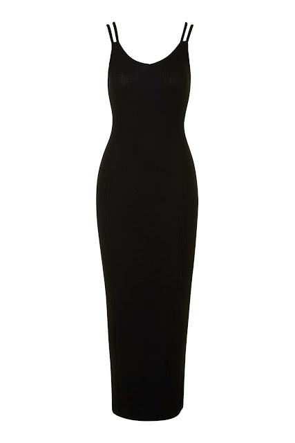double strap black dress,