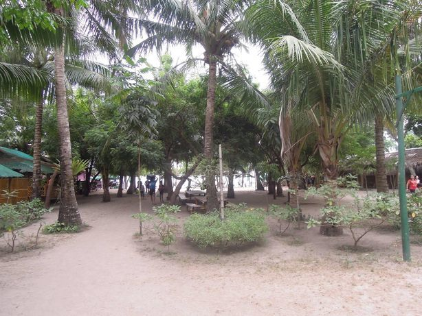 At the entrance of Paseo Verde Beach Resort