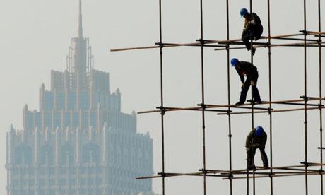 Funny Joke Builders Scaffolding Image
