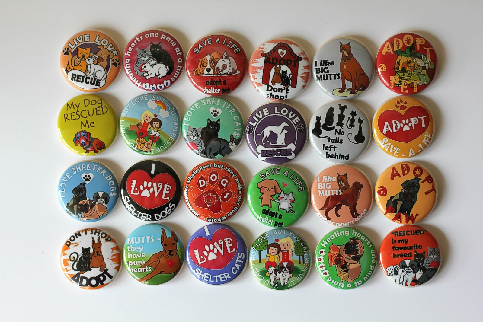 Pet Rescue Pins-$20.00