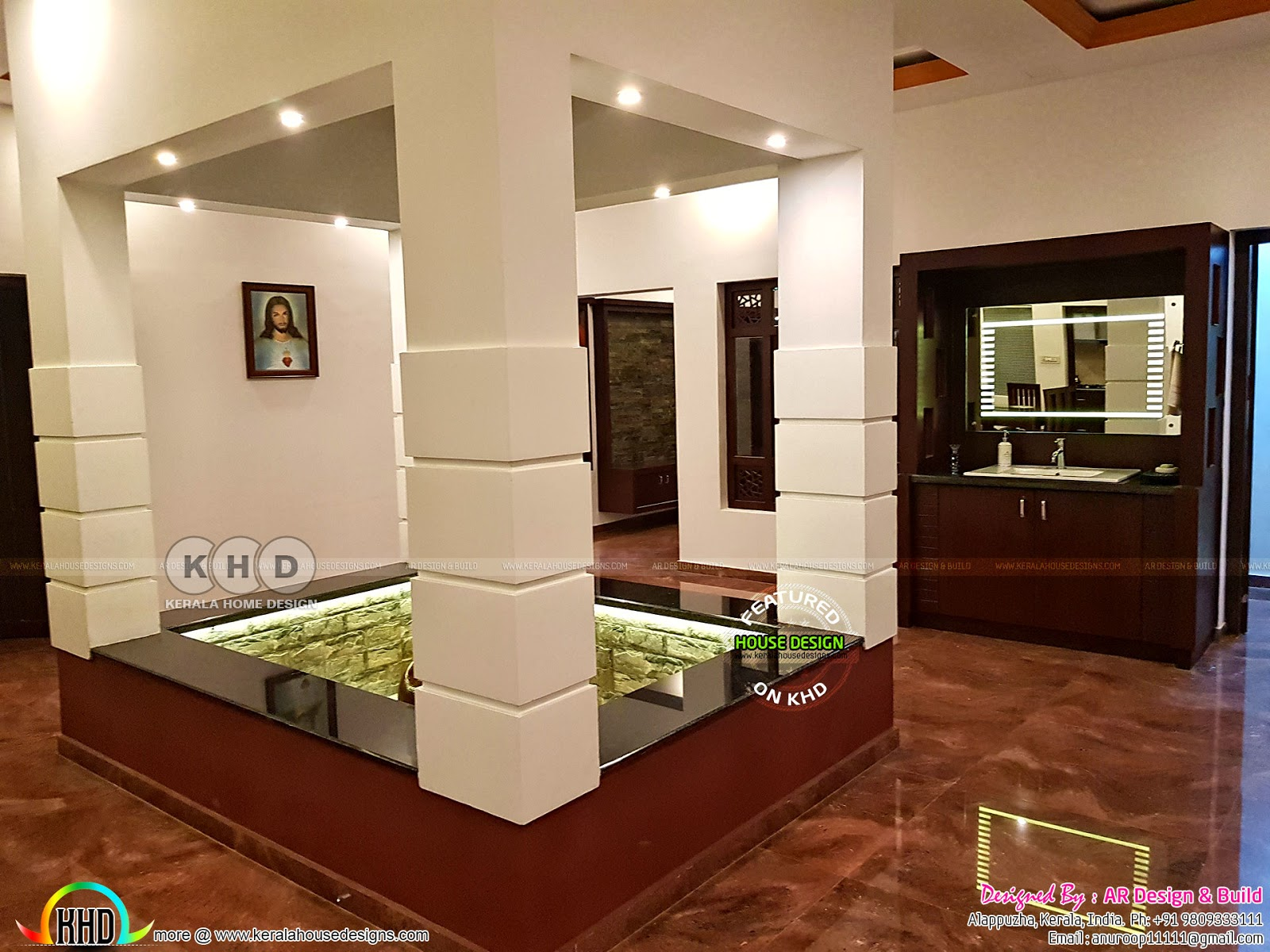 Finished one floor home with finished interior - Kerala ...