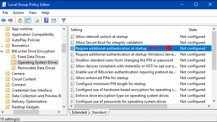 Methods to open BitLocker Without a Compatible TPM in Windows 10