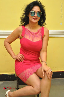 Telugu Actress Vijaya Murthy Stills in Red Short Dress at Www.Meena Bazaar Movie Opening  0027.JPG