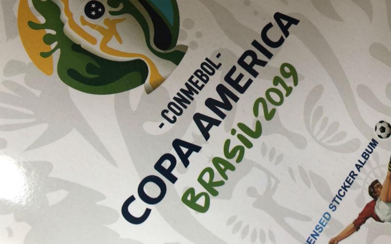 La portada del album de la Copa America de Brasil 2019