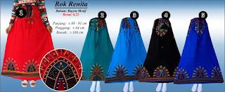 Koleksi rok rayon panjang modis dengan motif cantik