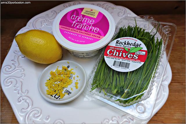 Ingredientes de la Crema Crème Fraîche con Cebollino