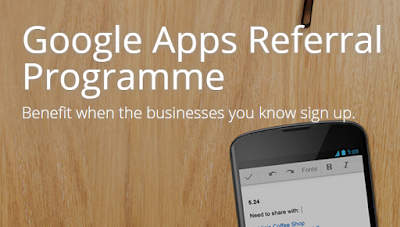 Google Apps Referral Programme