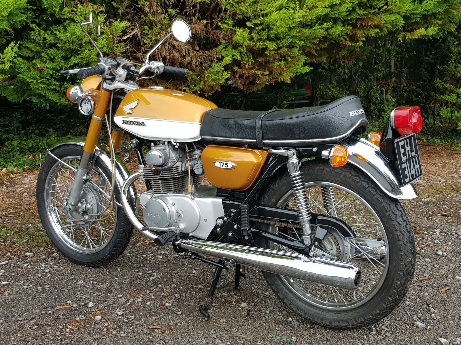 Honda CB175 1970 K4 Candy Gold Klasik
