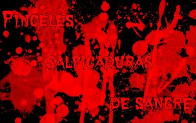 Pinceles salpicaduras de sangre | Photoshop/Gimp