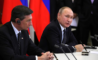 Vladimir Putin, Borut Pahor, news conference.