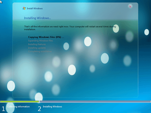 Download the lightest version of Windows 7
