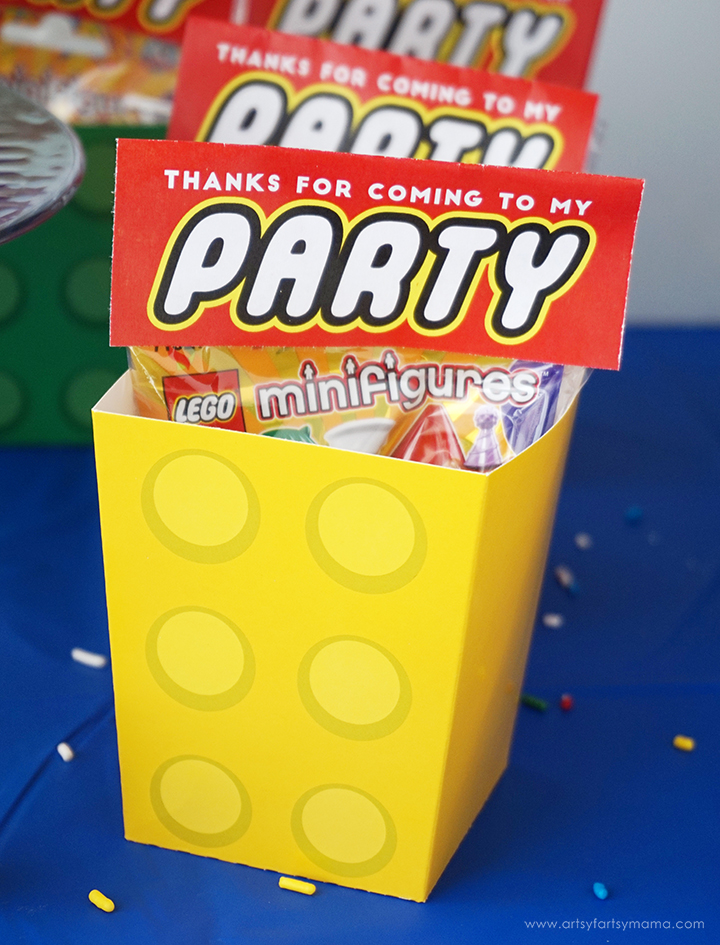 LEGO Minifigure Party with Free Printables | artsy-fartsy mama